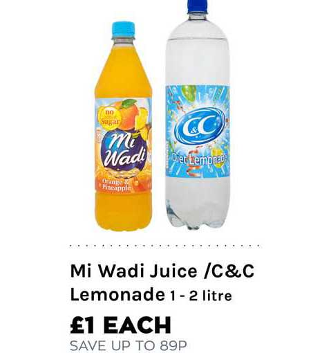 Mace Mi Wadi Juice -C&C Lemonade