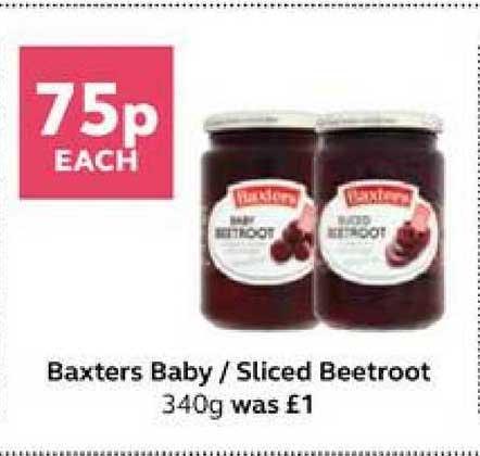 SuperValu Baxters Baby Sliced Beetroot