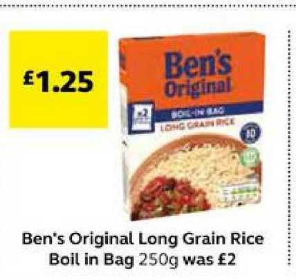 SuperValu Ben's Original Long Grain Rice Boil In Bag