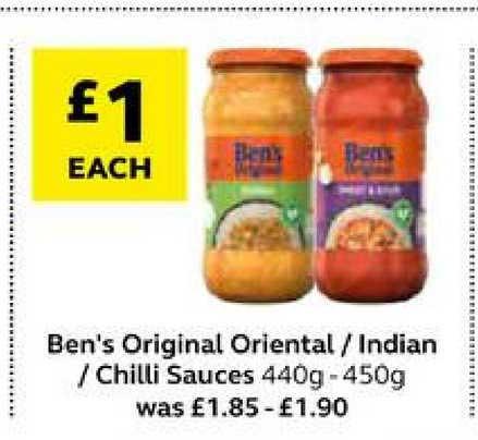 SuperValu Ben's Original Oriental Indian Chilli Sauces