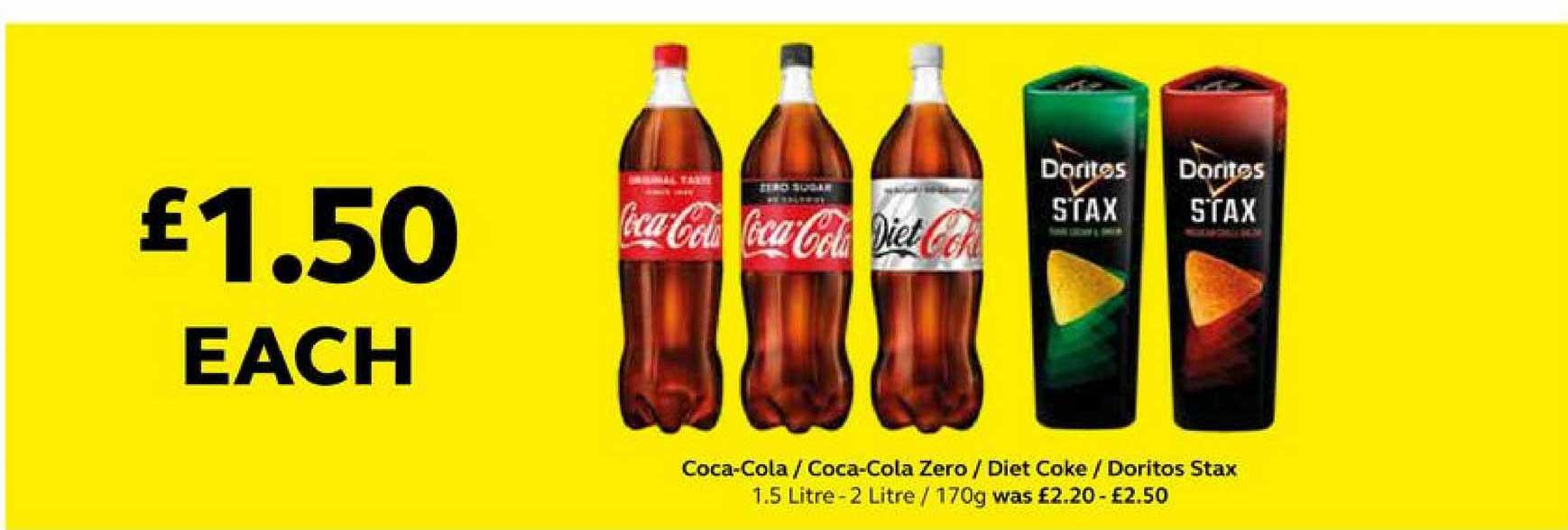 SuperValu Coca-cola Coca-cola Zero Diet Coke Doritos Stax