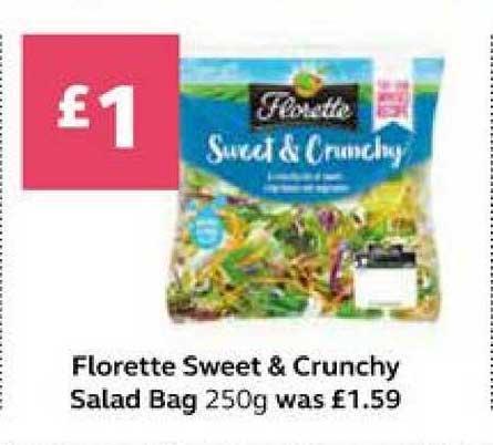 SuperValu Florette Sweet & Crunchy Salad Bag