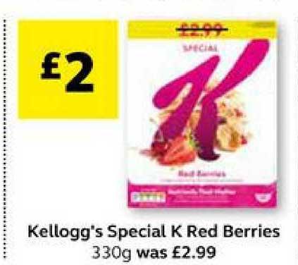 SuperValu Kellogg's Special K Red Berries