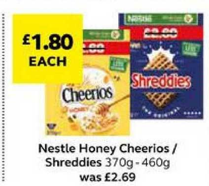 SuperValu Nestle Honey Cheerios Shreddies