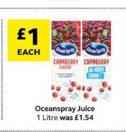 SuperValu Oceanspray Juice