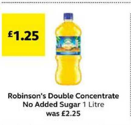 SuperValu Robinson's Double Concentrate No Added Sugar
