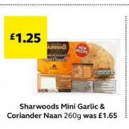 SuperValu Sharwoods Mini Garlic & Coriander Naan