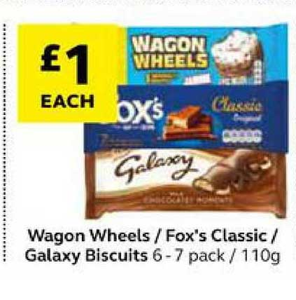 SuperValu Wagon Wheels Fox's Classic Galaxy Biscuits