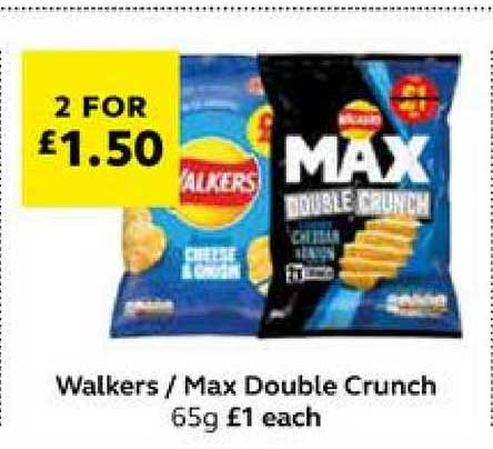SuperValu Walkers Max Double Crunch