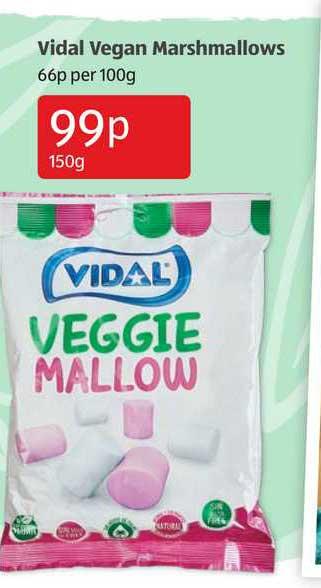 Aldi Vidal Vegan Marshmallows