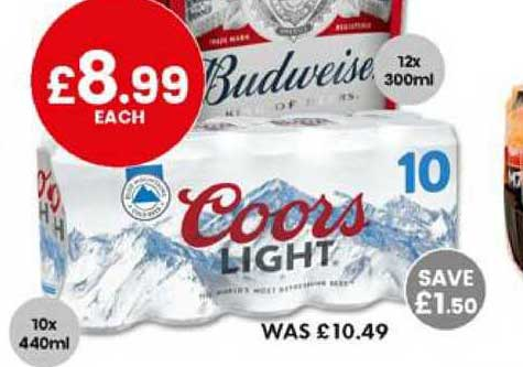 Bargain Booze Coors Light