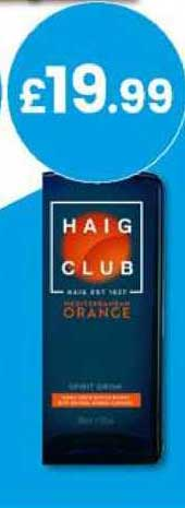 Bargain Booze Haig Club