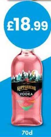Bargain Booze Kopparberg Vodka