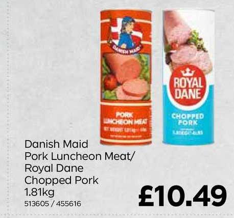 Bestway Danish Maid Pork Luncheon Meat-Royal Dane Chopped Pork