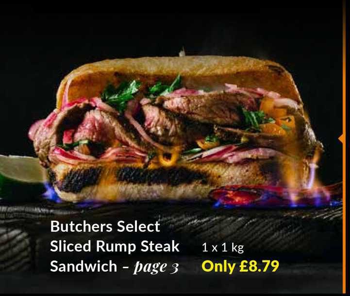 Musgrave MarketPlace Butchers Select Sliced Rump Steak Sandwich