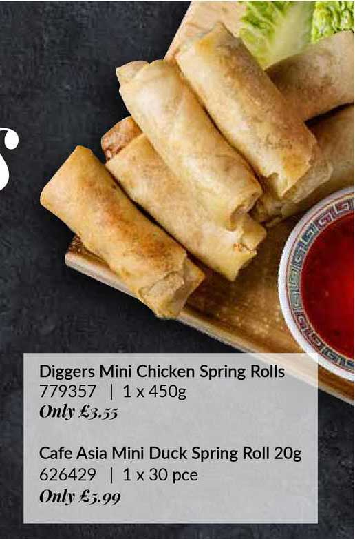 Musgrave MarketPlace Diggers Mini Chicken Spring Rolls Cafe Asia Mini Duck Spring Roll