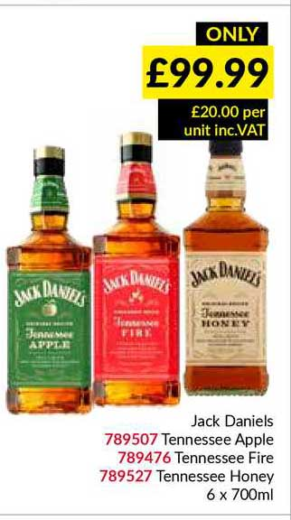 Musgrave MarketPlace Jack Daniels Tennessee Apple Tennessee Fire Tennessee Honey