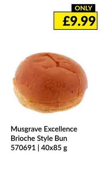Musgrave MarketPlace Musgrave Excellence Brioche Style Bun