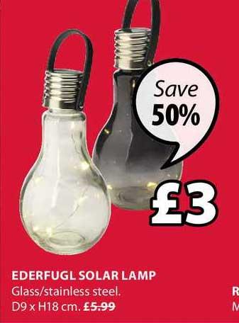 JYSK Ederfugl Solar Lamp