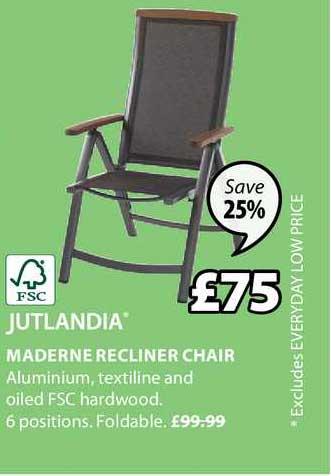 JYSK Jutlandia Maderne Recliner Chair