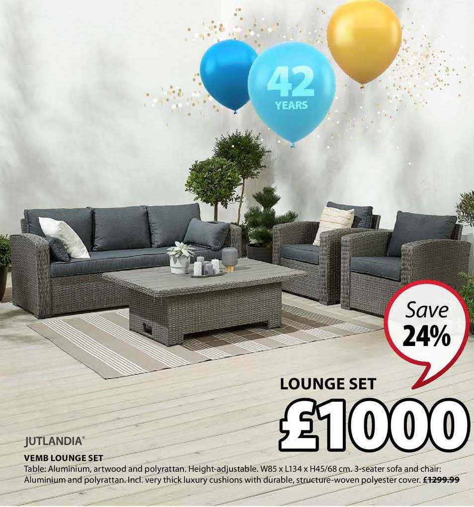 JYSK Jutlandia Vemb Lounge Set
