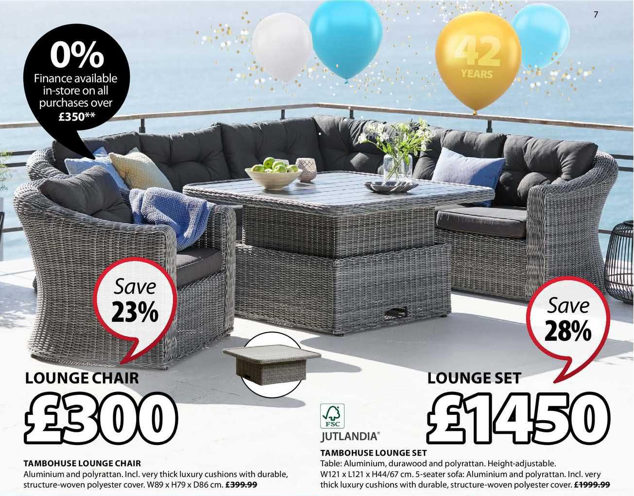 JYSK Tambohuse Lounge Chair , Jutlandia Tambohuse Lounge Set