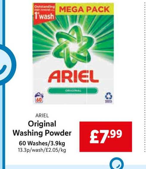 Lidl Ariel Original Washing Powder