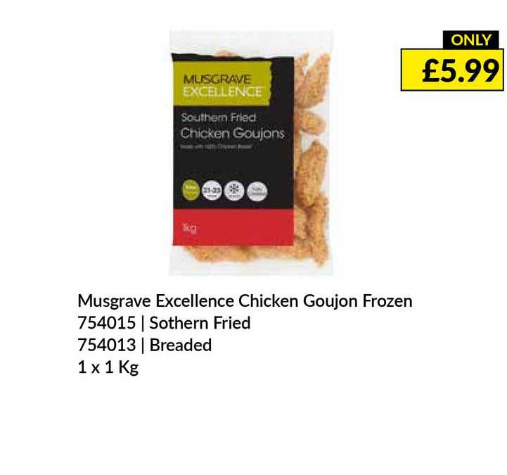 Musgrave MarketPlace Musgrave Excellence Chicken Goujon Frozen