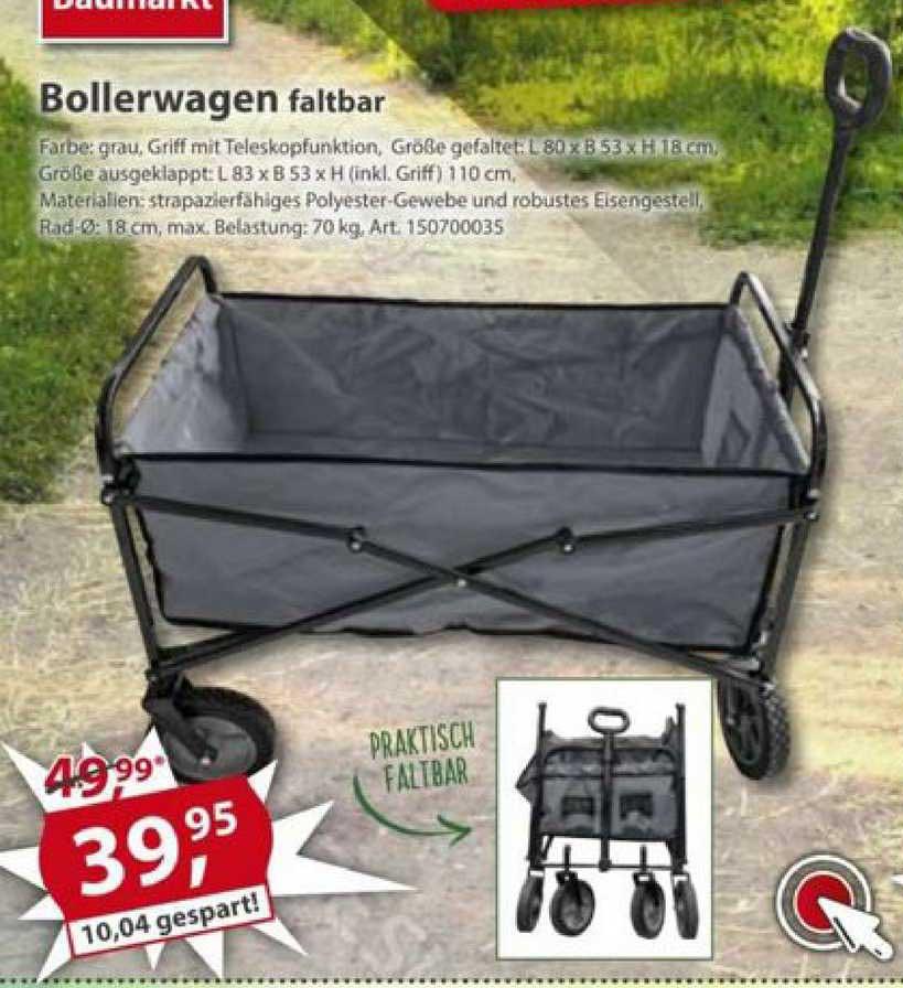 Sonderpreis Baumarkt Bollerwagen Faltbar