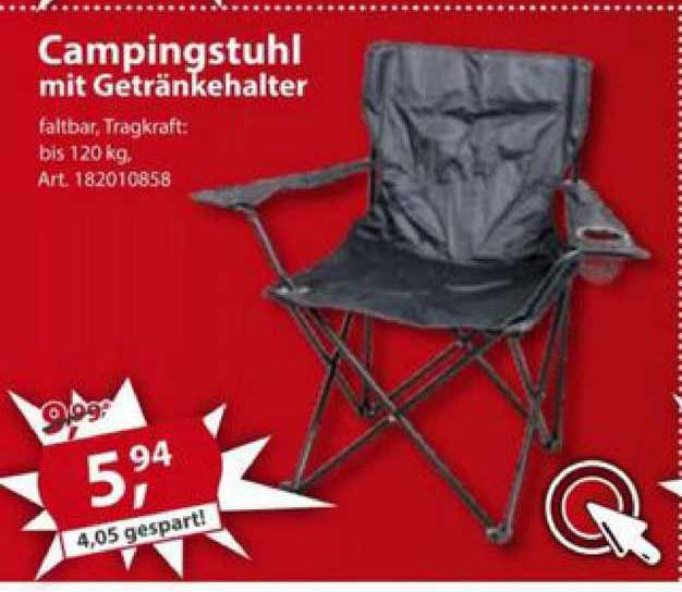Sonderpreis Baumarkt Campingstuhl Mit Getränkehalter