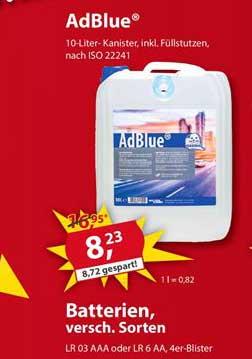 Sonderpreis Baumarkt Adblue