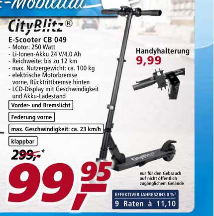 Real E-scooter CB 049