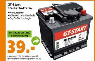 Globus Baumarkt Gt-start Starterbatterie