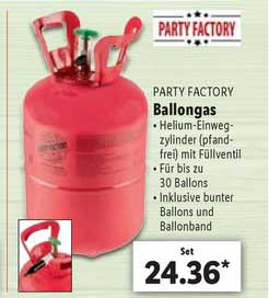 Lidl Party Factory Ballongas
