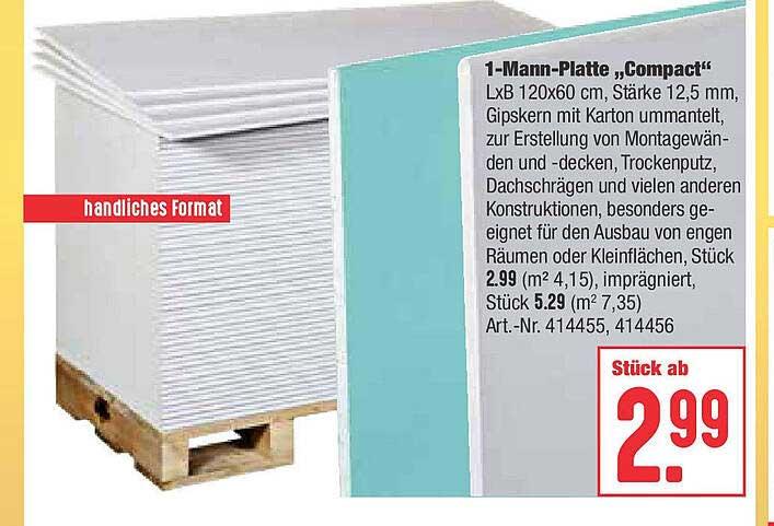 """Hellweg 1-mann-platte """"compact"""""""
