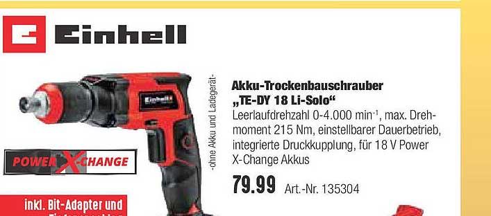 "Hellweg Akku-trockenbauschrauber ""te-dy 18 Li-solo"" Einhell"
