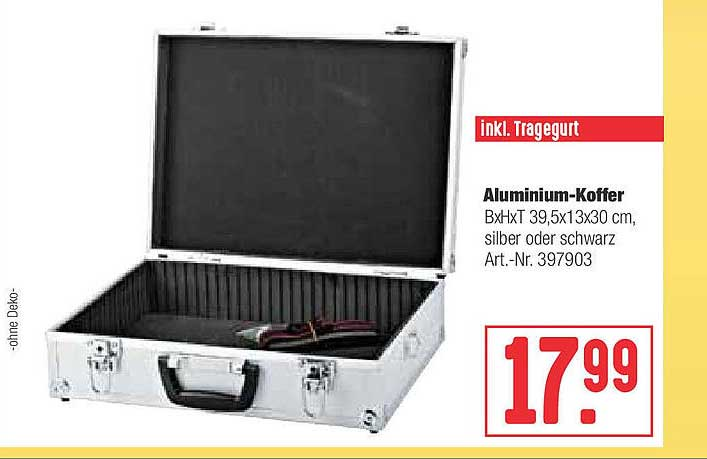Hellweg Aluminium-koffer