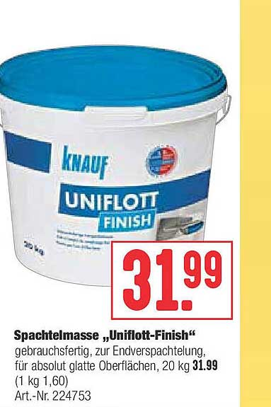 "Hellweg Spachtelmasse ""uniflott-finish"""