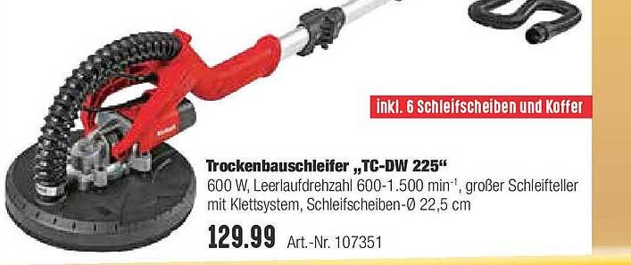 """Hellweg Trockenbauschleifer """"tc-dw 224"""""""