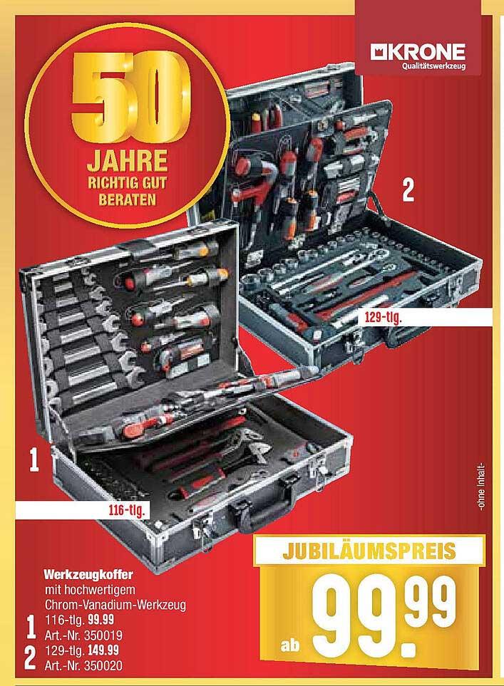 Hellweg Werkzeugkoffer Mit Hochwertigem Chrom-vanadium-werkzeug