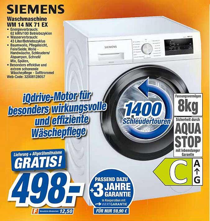 Expert Techno Land Siemens Waschmaschine Wm 14 Nk 71 Ex
