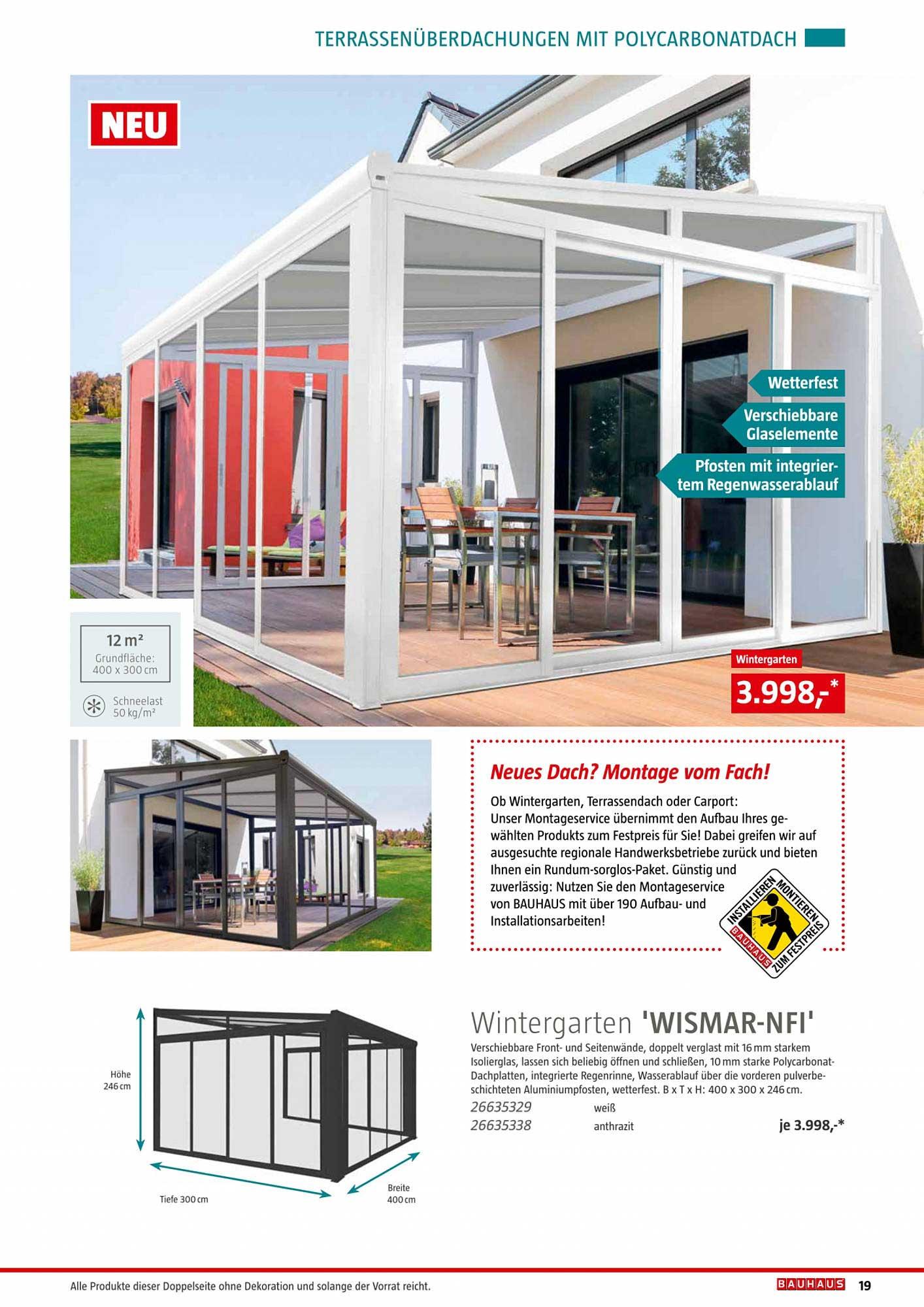 Bauhaus Wintergarten 'wismar NFI'