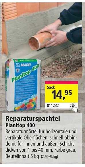 Holz Possling Mapei Reparaturspachtel Planitop 400