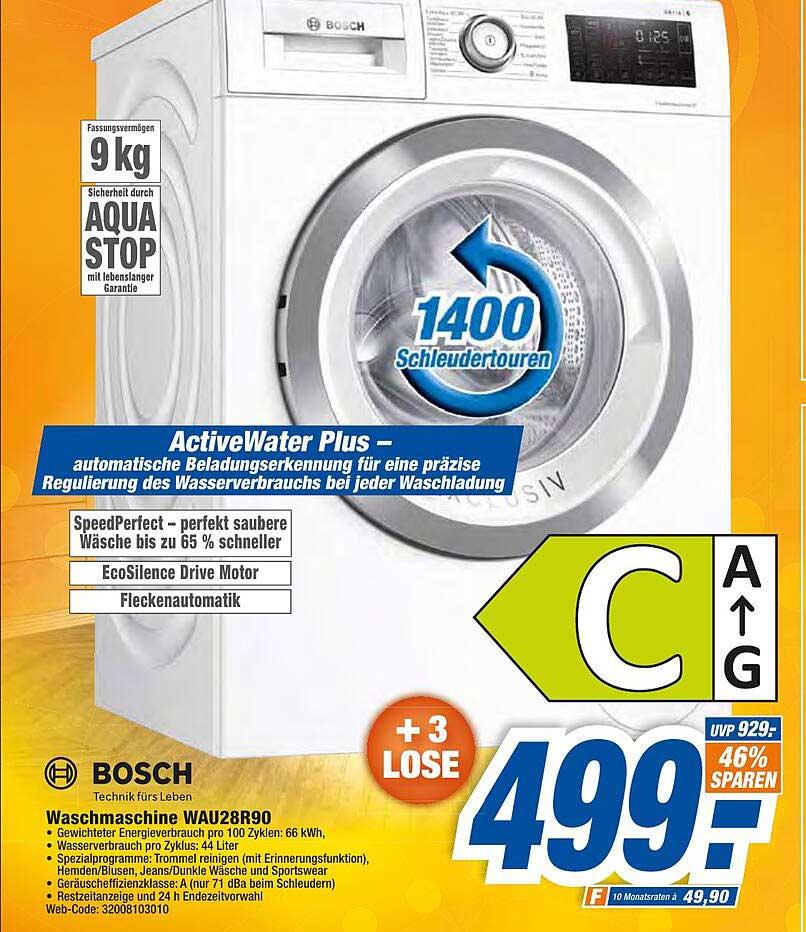 Expert Octomedia Bosch Waschmaschine Wau28r90