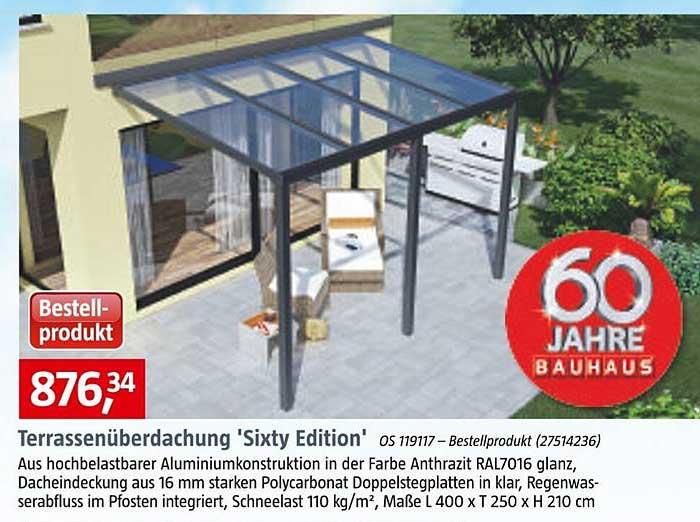 Bauhaus Terrassenüberdachung Sixty Edition
