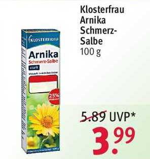 ROSSMANN Klosterfrau Arnika Schmerzsalbe