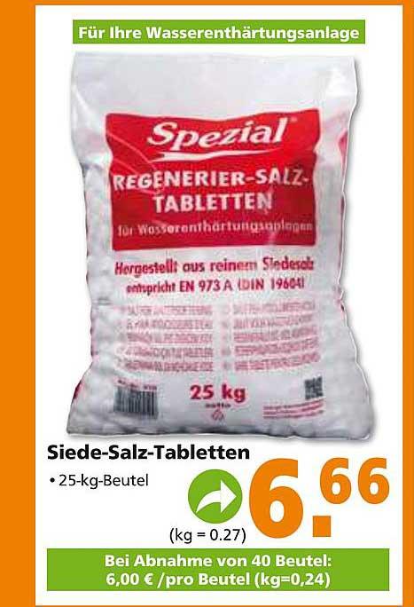 Globus Baumarkt Siede-salz-tabletten