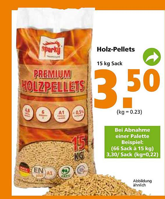 Globus Baumarkt Sparky Holz-pellets