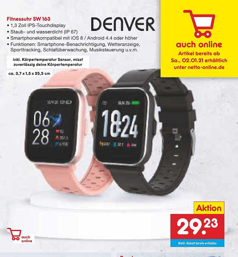 Netto Marken-Discount Denver Fitnessuhr Sw163