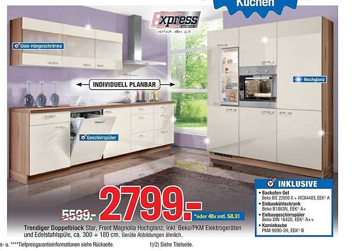 Möbelpiraten Trendiger Doppelblock Star Express Küchen